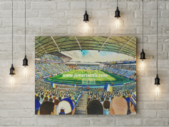 elland road   canvas a3 size